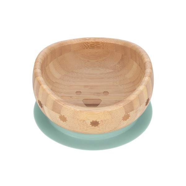 Lässig Bowl Bamboo/Wood Little Chums with suction pad/silicone (3 Farben)